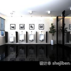 公装厕所3d模型下载