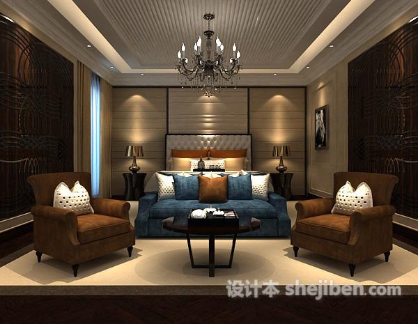 卧室吊灯模型