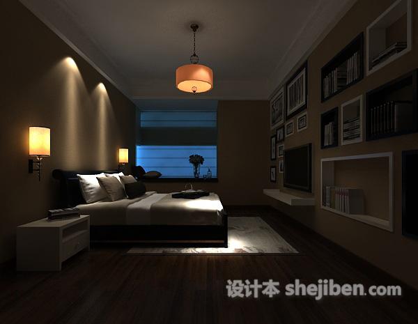 3d卧室书房模型