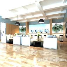 办公大厅休息区3d模型下载