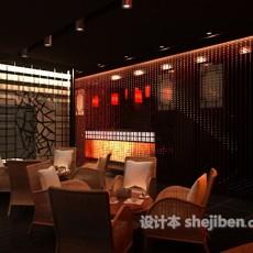 中式茶楼隔断3d模型下载