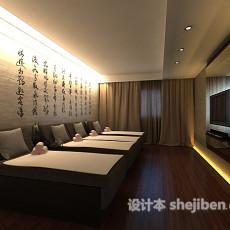 中式客厅整体3d模型下载