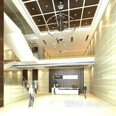 公司大厅前台3d模型下载