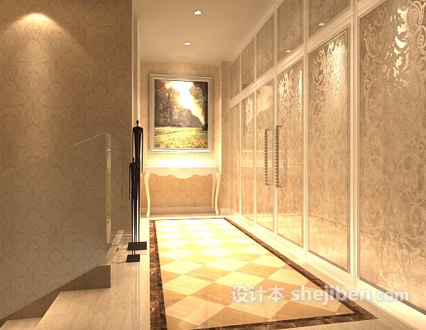 酒店过道3d模型库免费下载