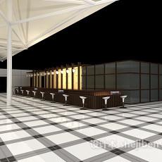 现代酒吧吧台3d模型下载