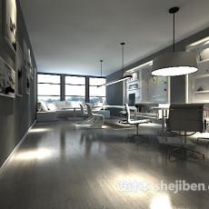 客厅灯具3d模型下载