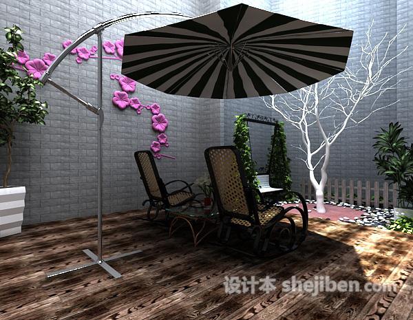 阳台花园遮阳伞