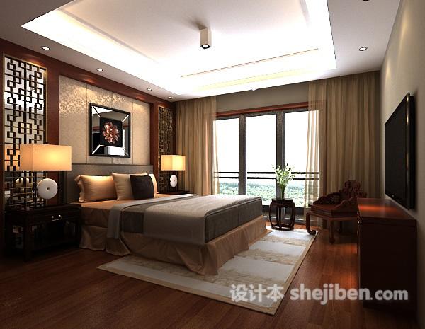 卧室背景墙3d模型