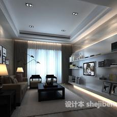 客厅窗帘3d模型下载