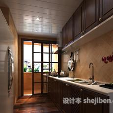 欧式厨房3d模型下载