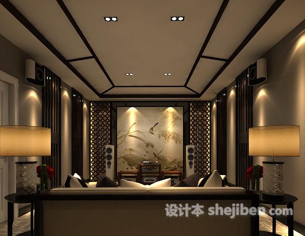中式客厅3d模型