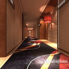 工装餐厅3d模型下载
