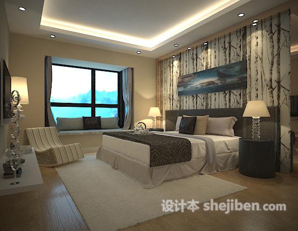卧室背景墙模型下载