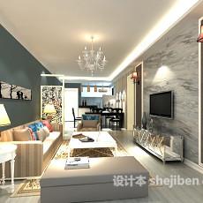 客厅壁灯3d模型下载