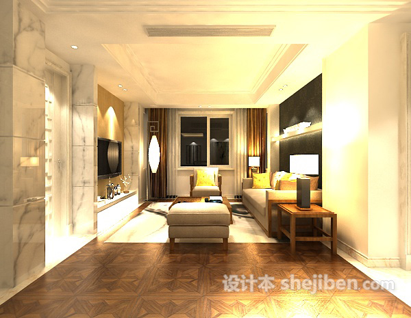 3d室内客厅沙发模型