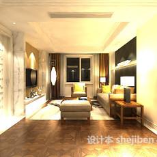 室内客厅沙发3d模型下载