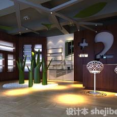 商务展厅3d模型下载