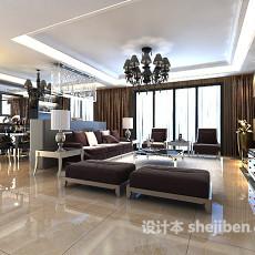 现代客厅吊顶3d模型下载