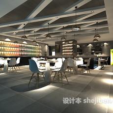 自助餐厅3d模型下载