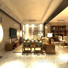 小型客厅3d模型下载