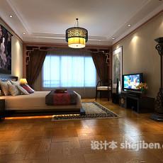 中式卧室3d模型下载