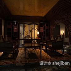 中式书房3d模型下载