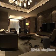 max客厅整体3d模型下载