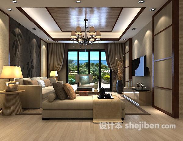客厅沙发背景墙模型下载