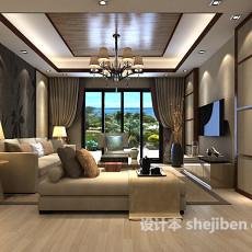 客厅沙发背景墙3d模型下载