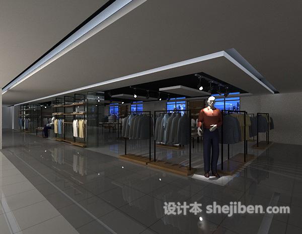 商场衣服专卖店模型