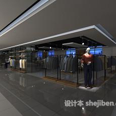 商场衣服专卖店3d模型下载