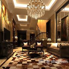 客厅水晶吊灯3d模型下载