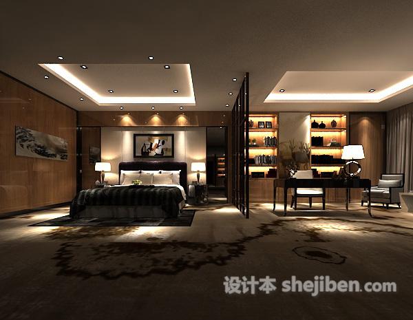 现代卧室隔断模型