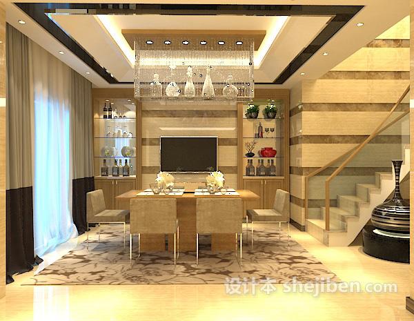 家装餐厅吊灯模型