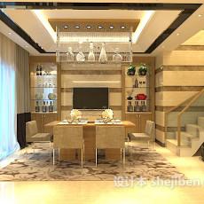 家装餐厅吊灯3d模型下载