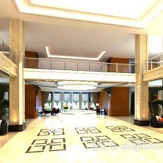 办公楼大厅吊顶3d模型下载