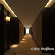 宾馆房间过道3d模型下载