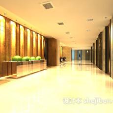 酒店宾馆过道3d模型下载