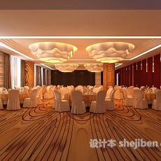 工装餐厅吊顶3d模型下载
