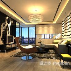 客厅电视墙隔断3d模型下载