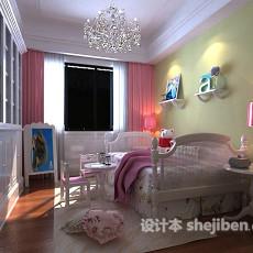 女孩房卧室3d模型下载