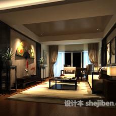 max新中式室内客厅3d模型下载