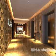 中式家装餐厅3d模型下载