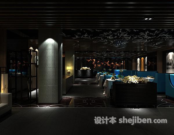 工装餐厅大厅模型