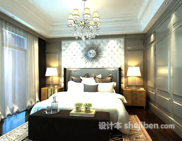 3d卧室整体模型