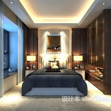 卧室背景墙3d模型下载