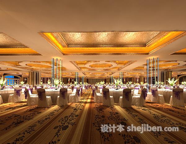 工装宴会大厅模型