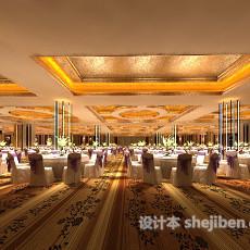 工装宴会大厅3d模型下载