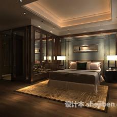 max中式卧室3d模型下载