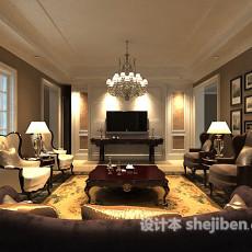 max室内客厅吊灯3d模型下载
